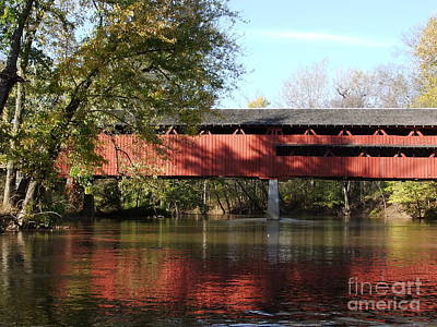 Photograph - Spencerville Covered Bridge by Deborah DeLaBarre