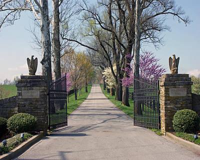 Spendthrift Farm Entrance Art Print by Roger Potts