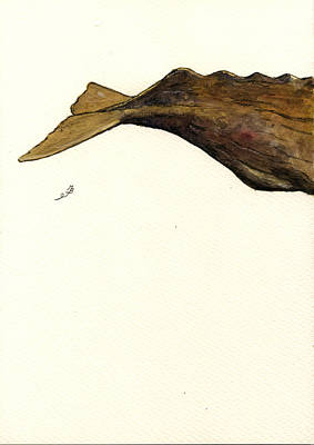 Marine Painting - Sperm Whale Third Part by Juan  Bosco