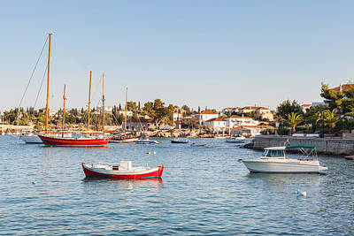 Photograph - Spetses Harbour by Paul Cowan