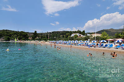 Photograph - Agii Anargiri Beach In Spetses Island by George Atsametakis