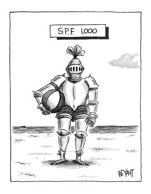 Lotion Drawing - 's.p.f. 1,000' by Christopher Weyant