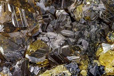 Slovakia Photograph - Sphalerite Crystals by Petr Jan Juracka
