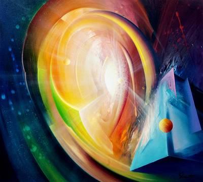 Macrocosm Painting - Sphere B11 by Drazen Pavlovic
