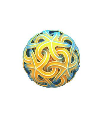 Soccer Ball Photograph - Sphere Of Interlocking Geometries by David Parker