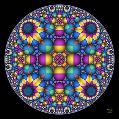 Digital Art - Sphere Packed Hyperbolic Disk II by Manny Lorenzo