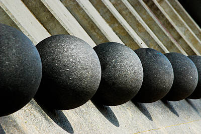 Spheres And Steps Art Print