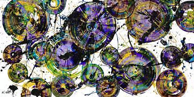 Painting - Spherical Purple Haze - 1510.021413 by Kris Haas