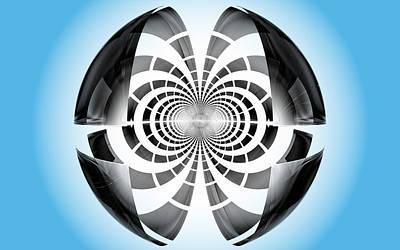 Art Print featuring the digital art Spheroid by GJ Blackman