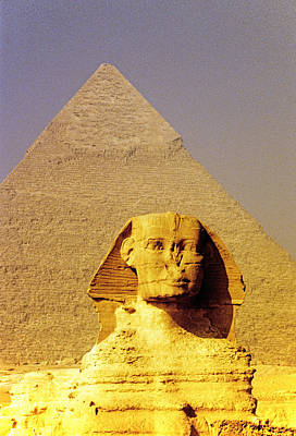 Sphinx And Pyramid Art Print by Dennis Cox WorldViews