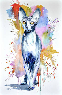 Painting - Sphinx Cat by Steven Ponsford