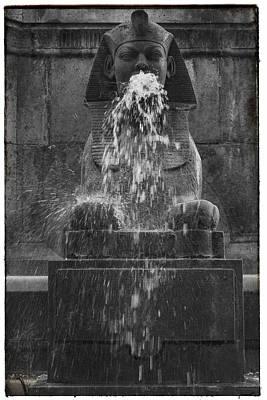 Paris Photograph - Sphinx Fountain Paris  by Georgia Fowler
