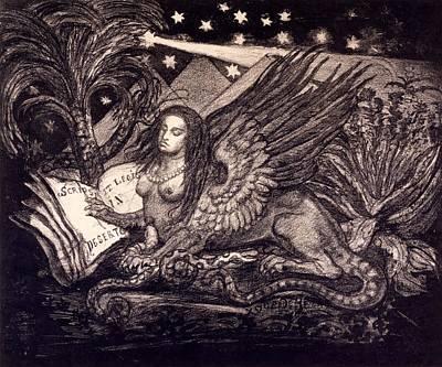 Sphinx Art Print by Henri de Groux