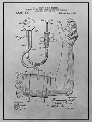 Sphygmomanometer Patent Drawing Art Print by Dan Sproul