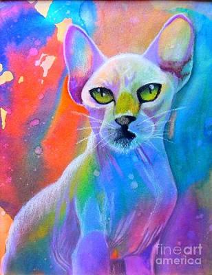 Sphynx Art Painting - Sphynx by Sherelle Barber