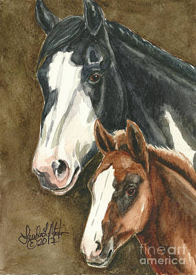 Mustang A Day Challenge Painting - Spice And Paprika by Linda L Martin