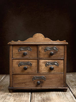 Table Wine Photograph - Spice Cabinet by Amanda Elwell