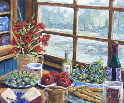 Interior Still Life Painting - Spice Table By Prankearts by Richard T Pranke