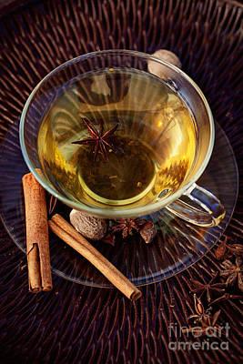 Table Wine Photograph - Spiced Tea by Mythja  Photography