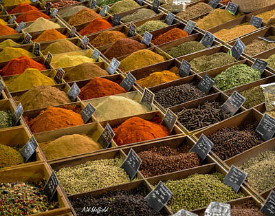 Photograph - Spices At Marche Provencal by Allen Sheffield