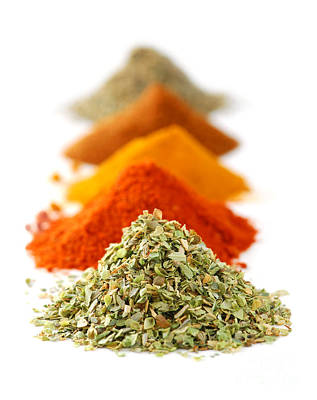 Mound Photograph - Spices by Elena Elisseeva