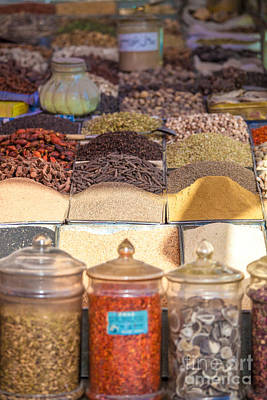 Spices For Sale At Kashgar Bazaar Art Print by Matteo Colombo