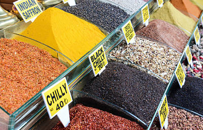 Photograph - Spices For Sale In Istanbul Turkey by Brandon Bourdages