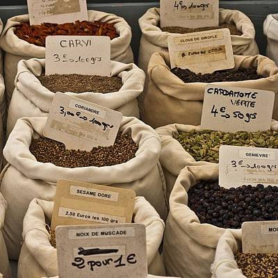 Food Wall Art - Photograph - #spices #frenchmarket by Georgia Fowler