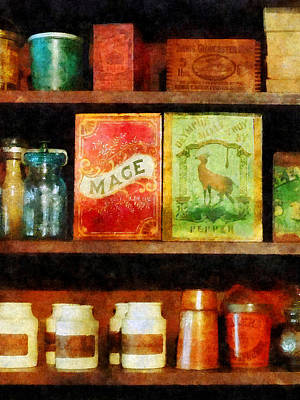 Photograph - Spices On Shelf by Susan Savad