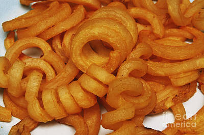 Photograph - Spicy Curly Fries 1 by Andee Design