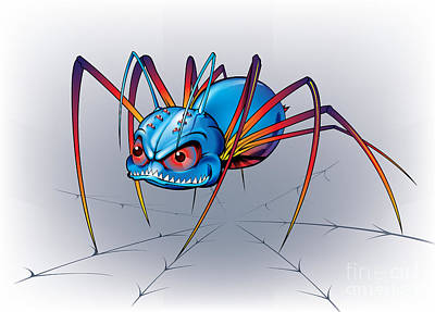 Digital Art - Spider by Brian Gibbs