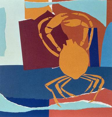Paste Painting - Spider Crab by John Wallington