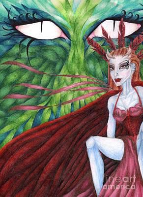 Fey Drawing - Spider Eyes by Coriander  Shea