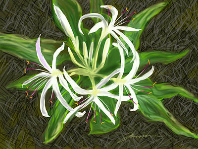 Painting - Spider Lily by Jean Pacheco Ravinski