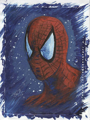 Painting - Spider Man 01 by Simon Drohen