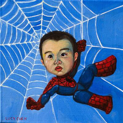 Painting - Spider-man Alan by Lucy Chen