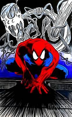 Spider-man Enhanced Editon Art Print by Justin Moore