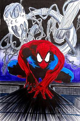 Spider Man Drawing - Spider-man Hd by Justin Moore