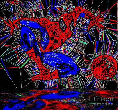 Painting - Spider-man Out Of The Web 2 by Saundra Myles