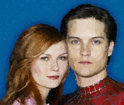 Mary Jane Watson Painting - Spider Man by Samuel Majcen