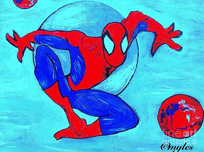 Painting - Spider-man  by Saundra Myles
