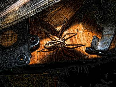 Art Print featuring the digital art Spider Of The Midnight Lite by Robert Rhoads