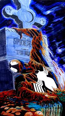 Area 613 Comics Drawing - Spider Resurrection Pop Art by Justin Moore