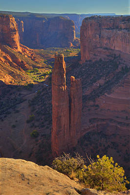 Art Print featuring the photograph Spider Rock by Alan Vance Ley