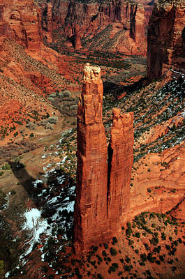 Erect Photograph - Spider Rock, Canyon De Chelly, Arizona by Michel Hersen