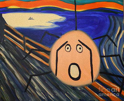 Cartoon Spider Painting - Spider Scream by Terry Weaver