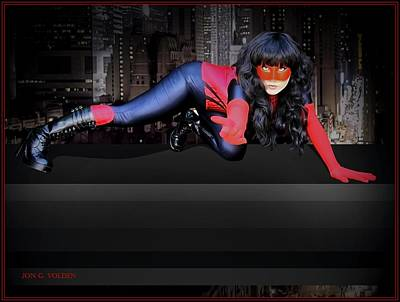 Photograph - Spider Woman Ready For Action by Jon Volden