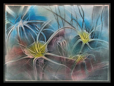Pastel - Spiderlilyscape '09 by Glenn Bautista