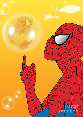 Humor Digital Art - Spiderman 3 by Mark Ashkenazi