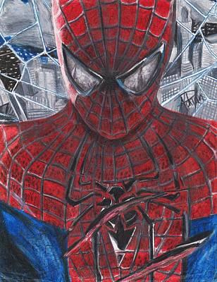 Spiderman Drawing - Spiderman by Adrian  Casanova